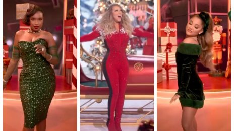 First Look: Mariah Carey Joined By Ariana Grande, Jennifer Hudson, & More In Apple TV Christmas Special