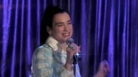 Dua Lipa Performs 'Christmas Is All Around' On 'The Tonight Show Starring Jimmy Fallon'