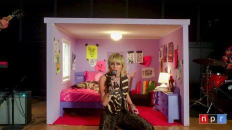 Watch:  Miley Cyrus Rocks NPR's 'Tiny Desk Concert' with 'Prisoner,' 'Golden G-String,' & More