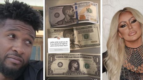 Aubrey O'Day Deletes Tweet Slamming Usher Over Fake #UshBucks Story:  'First, He Handed Out Herpes...'