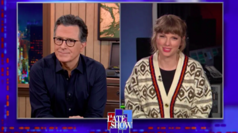Watch: Taylor Swift Stops By 'Colbert,' Dishes On Who 'Hey Stephen' Is About & Hints At Next Re-Recorded Album