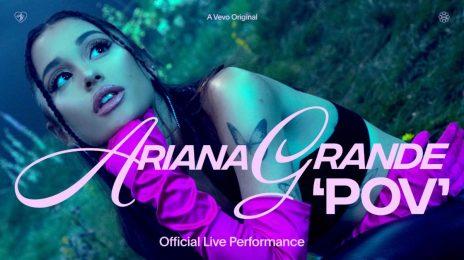 Ariana Grande Performs 'pov' On VEVO Live [Video]