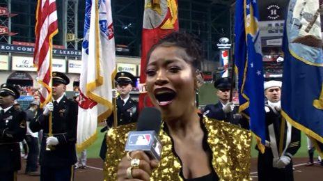 Watch: Keke Palmer Wows with US National Anthem at MLB World Series