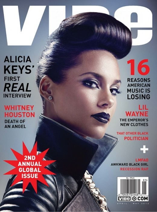 3503dfc769ad6e2b2e5e9b7a1301a3cd Hot Shot:  Alicia Keys Vivacious Vibe Magazine Cover