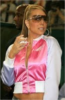 Mariah At Japanese Baseball Game