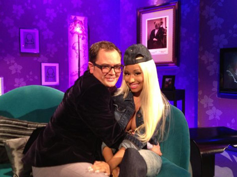 78f6cf01cd9b3a403ec5f0a3468a3b5a Watch:  Nicki Minaj Chats It Up With Chatty Man
