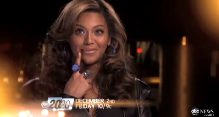 92dc6c4cc3e70ad96e64656b9aa73fca Preview:  Beyonce on ABCs 20/20
