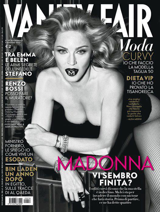 b30bf181ca073fb219fa99d41c973b42 Hot Shots:  Madonna Covers Vanity Fair Italia, Drops MDNA Tour Trailer